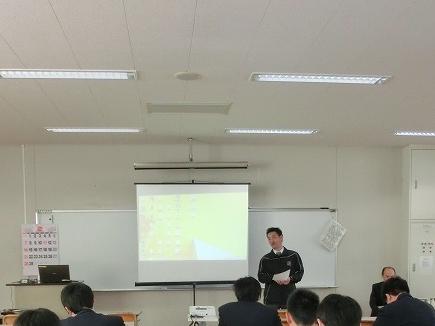 那須清峰高校で出前授業をさせてもらいました。